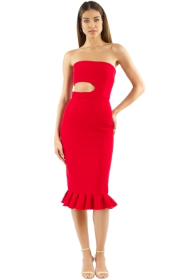 Yeojin Bae - Kaitlin Dress - Red - Front