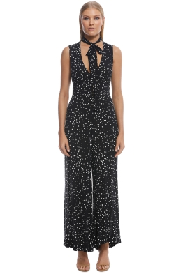 Zimmermann - Empire Jumpsuit - Black confetti - Front