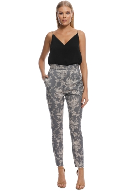 Zimmermann - Fleeting Stovepipe Pants - Grey - Front