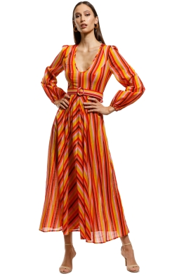 Zimmermann - Goldie Plunge Dress - Orange - Front