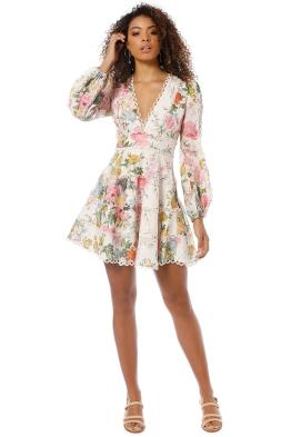 Zimmermann - Heathers Flounce Short Dress - Garden Floral - Front