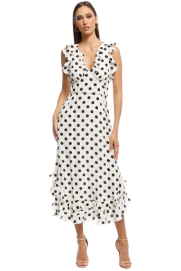 53a5ea93a9fa Zimmermann - Ruffle Dress - Black and White - Front