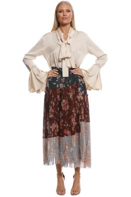 Zimmermann - Unbridled Pleated Skirt - Front