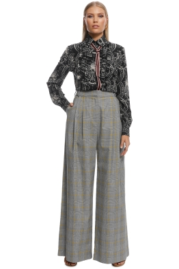 Zimmermann - Unbridled slouch pant - Grey - Front