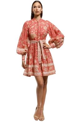 1c7a7a4fc1 Zimmermann - Veneto Border Short Dress - Pink - Front