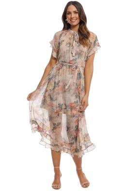 Zimmermann - Radiate Cascade Dress - Cream Floral - Front