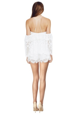 d597978365 Alice McCall - Lucy In The Sky Playsuit - White - Front
