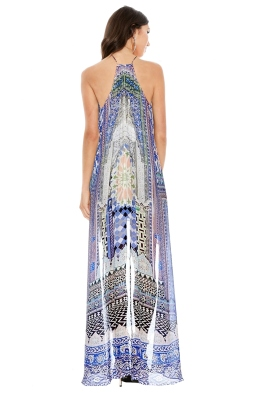 Camilla - Courtyard of Maidens Short Sheer Overlay Dress - Front