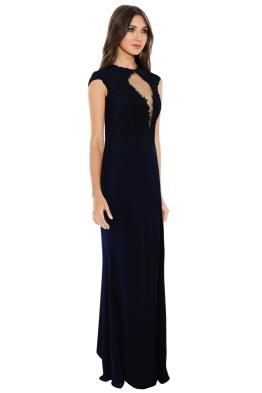 Rose noir black lace dress