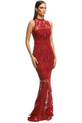 2a93d852173 Grace and Hart - Prosecco Gown - Red - Front