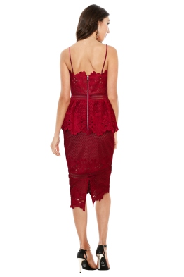 Grace and Hart - Frilling Around Fitted Midi - Cherry - Front