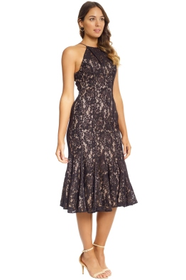 Keepsake the Label - Dreamers Lace Midi Dress - Black - Front