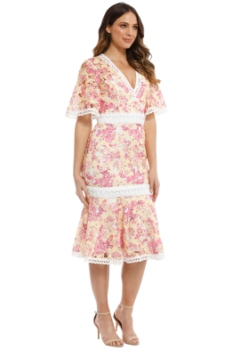 c2b17e08badb Talulah - Vienna Midi Dress - Wallpaper Rose - Front