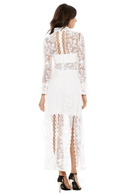 Thurley - Wisteria Dress - Front - White