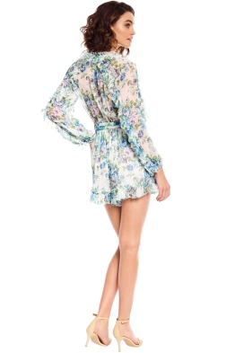 dc73d801db7 Zimmermann - Whitewave Ruffle Playsuit - Blue Floral - Front