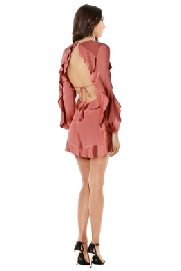 Zimmermann - Winsome Flutter Playsuit - Guava Pink - Front