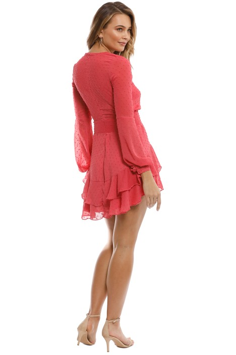 c82c825a2ac2 For Love   Lemons - Tarta Long Sleeve Mini Dress - Flamingo - Back