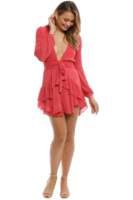 298fc244b65a For Love   Lemons - Tarta Long Sleeve Mini Dress - Flamingo - Front