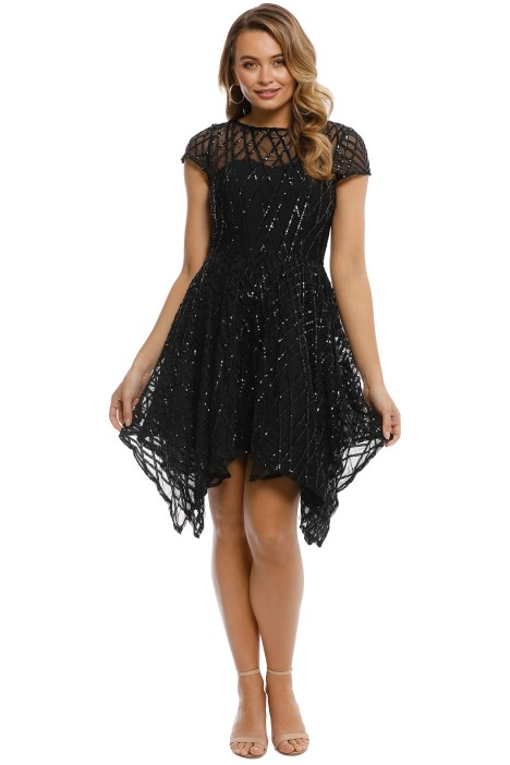Grace and Hart - Shooting Stars Fit n Flare - Black - Front