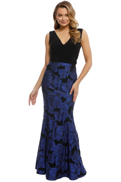 Montique - Veruskha Gown - Black Blue - Front