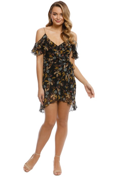 Nicholas the Label - Ava Floral Wrap - Black Floral - Front