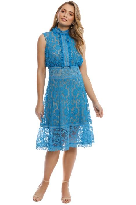 Tadashi Shoji - Francoise Cocktail Dress - Blue - Front
