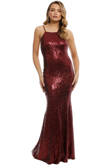 Theia - Jessica Gown - Garnet - Front