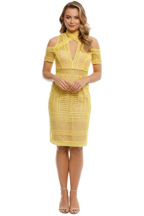 Thurley - Maze Midi Dress - Zest - Front