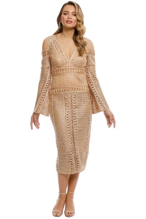 Thurley - Sonnet Dress - Gold - front