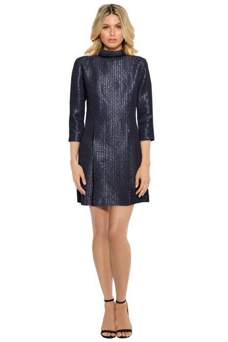 A.P.C. - Puccini Dress - Metallic Purple - Front