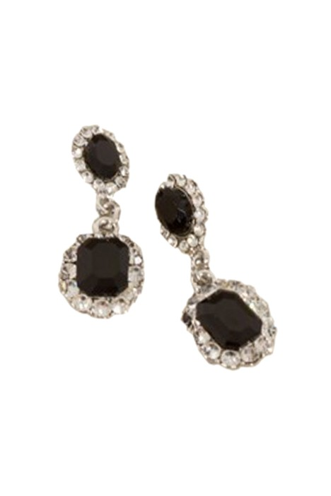 Adorne - Diamante Edge Mini Jewel Drop Earring