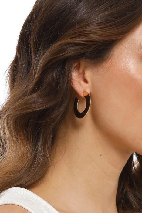 Adorne - Flat Curved Hoop Front Earrings