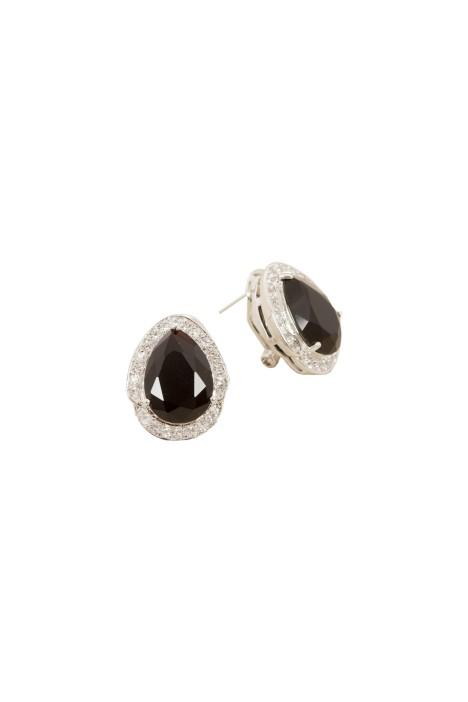 Adorne - Jewel Teardrop Diamante Edge Stud Earring