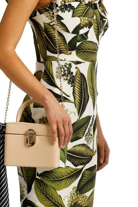 Adorne - Vintage Structured Box Bag - Nude - Side
