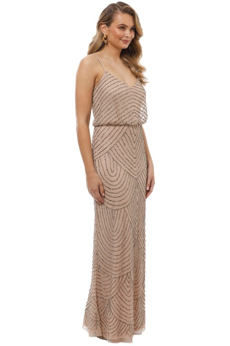 cb7ca08877cd Art Deco Beaded Blouson Gown in Taupe Pink by Adrianna Papell for ...