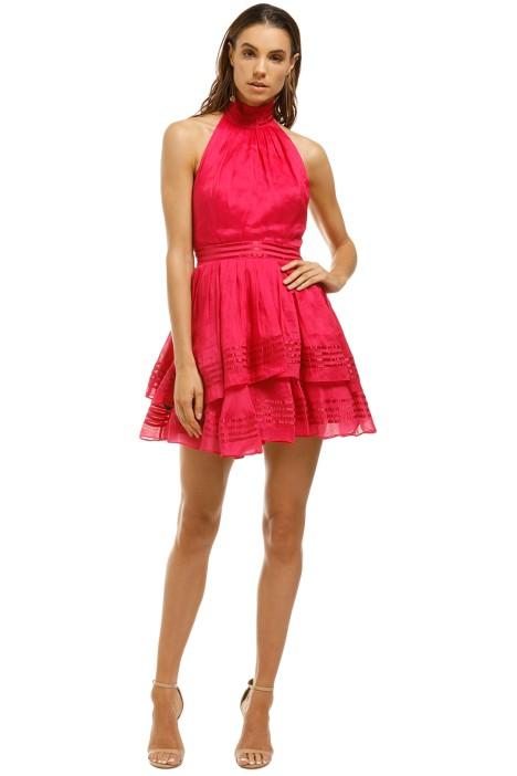 AJE-Florentine-Dress-Raspberry-Front