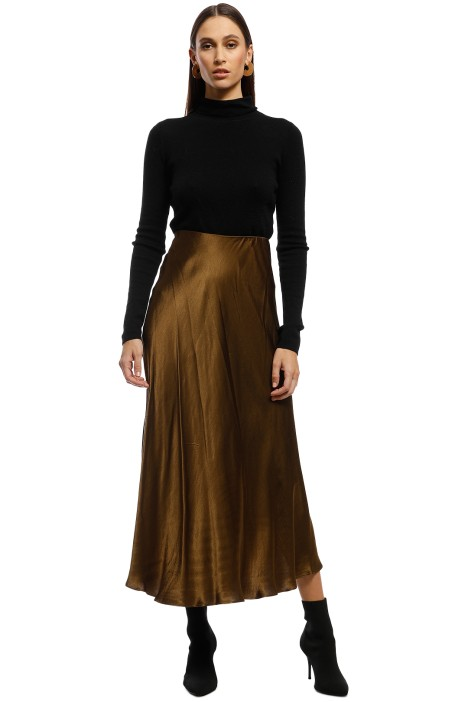 AKIN by Ginger & Smart - Grove Skirt - Brown - Front