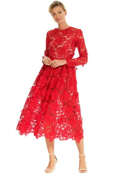 Alcoolique - Eveline Round Neck Dress - Red - Front