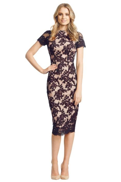 Alex Perry - Francoise Dress - Front - Black