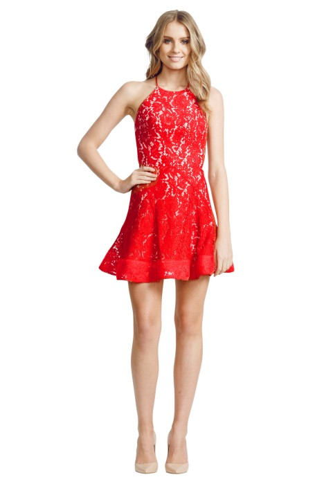 Alex Perry - Brandi Dress - Front - Red