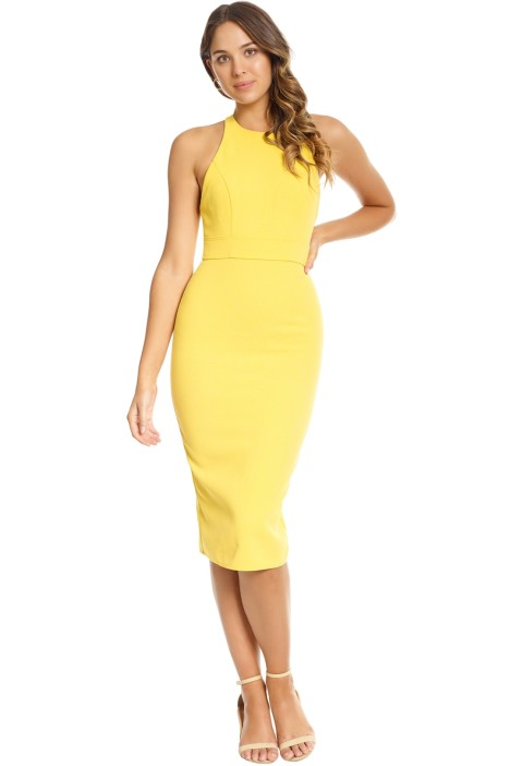 Alex Perry - Aileen Open Back Lady Dress - Yellow - Front