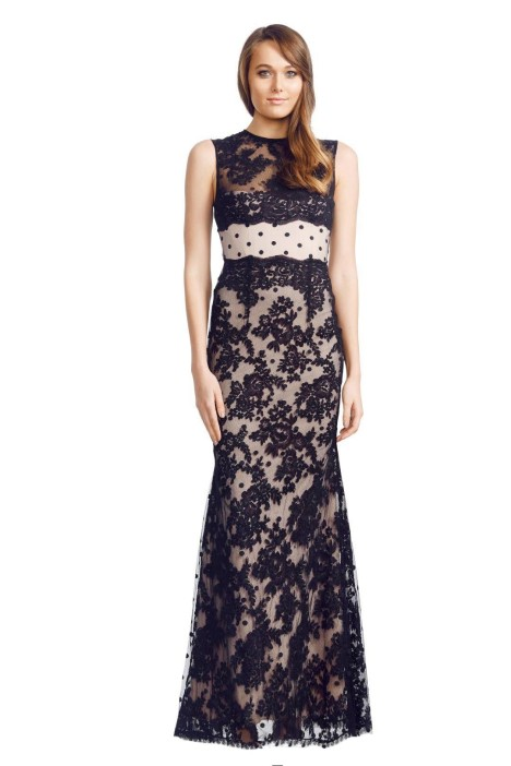 Alex Perry - Ancelina Gown - Black - Front