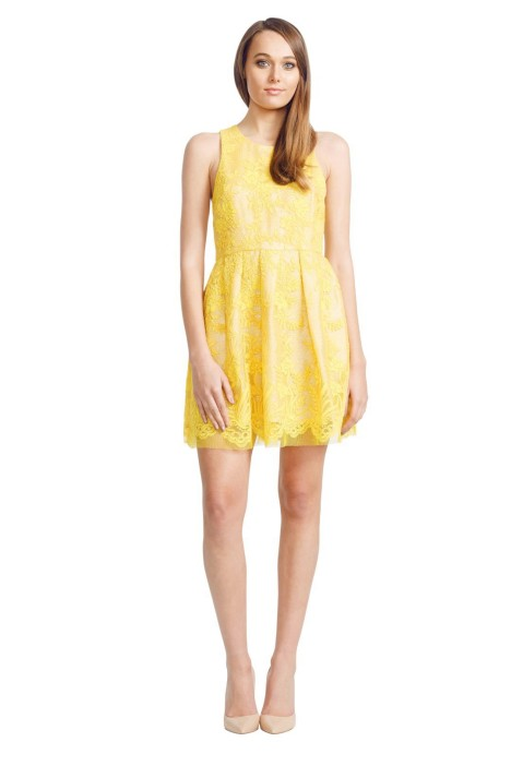 Alex Perry - Billie Dress - Yellow - Front
