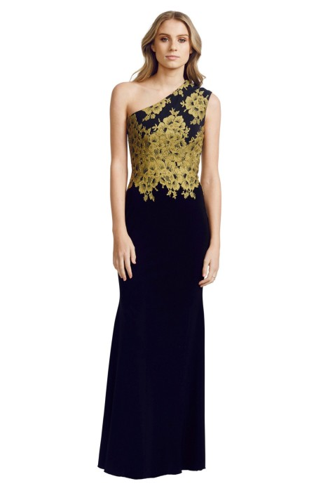 Alex Perry - Darcelle Gown - Black - Front