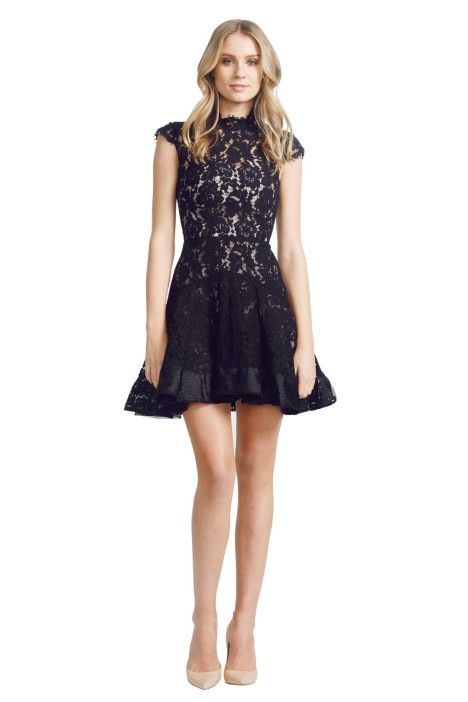 Alex Perry - Ellie Dress - Front - Black