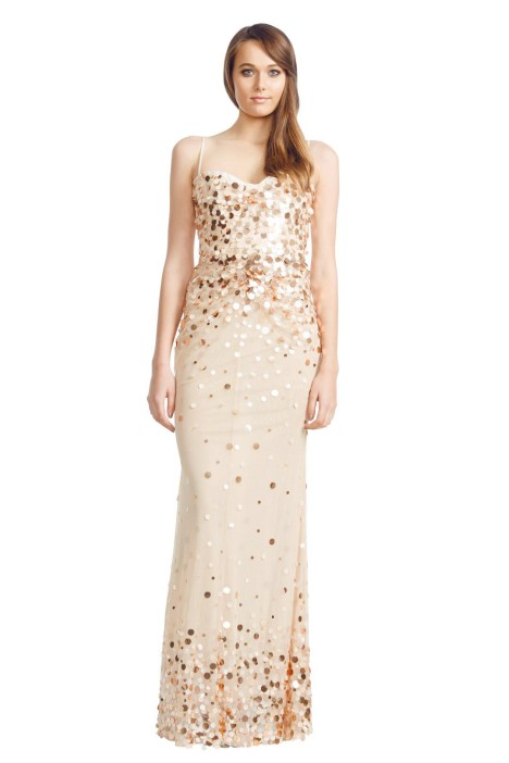 Alex Perry - Flurina Gown - Front - Gold