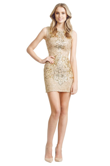 Alex Perry - Gilda Dress - Front - Gold