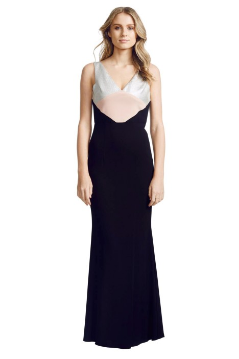 Alex Perry - Helene Gown - Front - Black