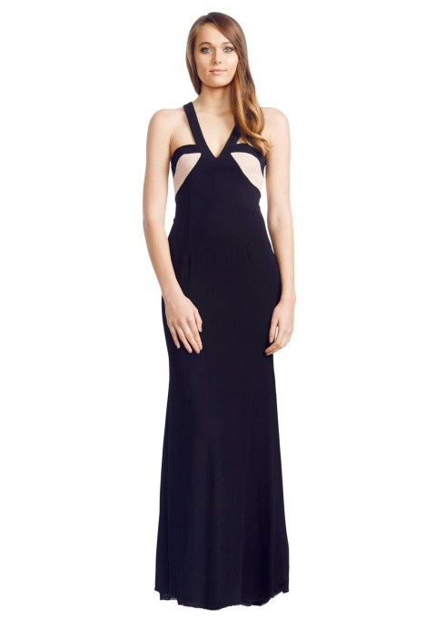 Alex Perry - Illana Gown - Front - Black