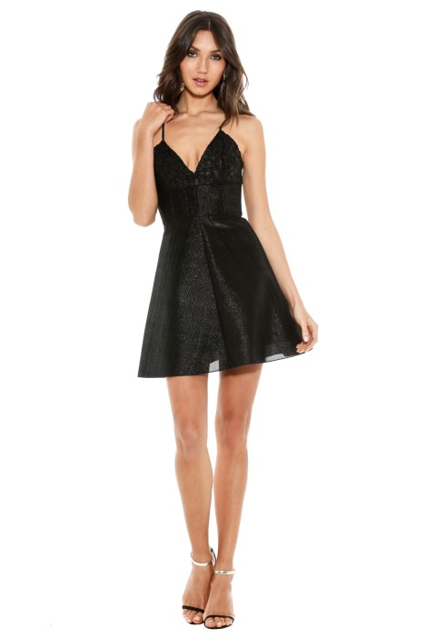 Alex Perry - Laurene Dress - Front - Black